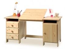 Náklopný psací stůl Henry II. 209, masiv smrk