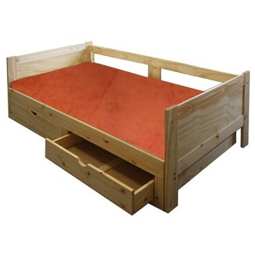 Rozkládací postel IA8891, masiv borovice