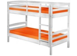 Dětská poschoďová postel - palanda IA260, z masivu borovice, bílá