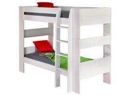 Dětská poschoďová postel - palanda IA040, z masivu borovice, bílá