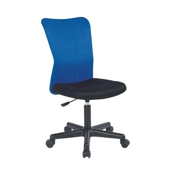 Židle na kolečkách IAK62, modrá-černá