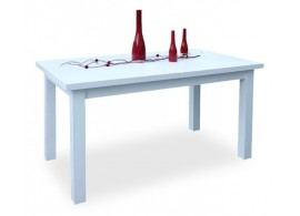 Rozkládací jídelní stůl 180x80 - SR202, bílá-lesk