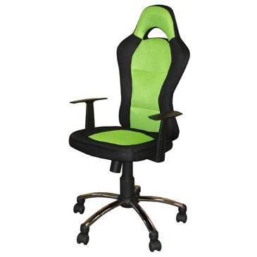 Otočná židle IAK81, zeleno-černá