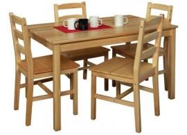 Dřevěný jídelní stůl z masivu IA8848, 118x75, masiv borovice