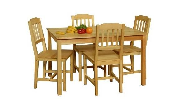 Dřevěná jídelní sestava z masivu IA8849, 118x75, masiv borovice