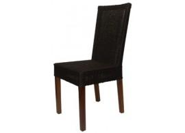 Ratanová jídelní židle IA3046, tmavě-hnědá