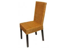 Ratanová jídelní židle IA3047, světle-hnědá