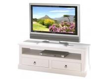 Rustikální TV stolek IA530, masiv borovice, bílý