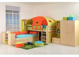 Dětský nábytek z masivu - sestava DOMINO-01, smrk