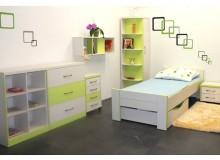 Dětský pokoj GREEN, lamino - zelená-bílá