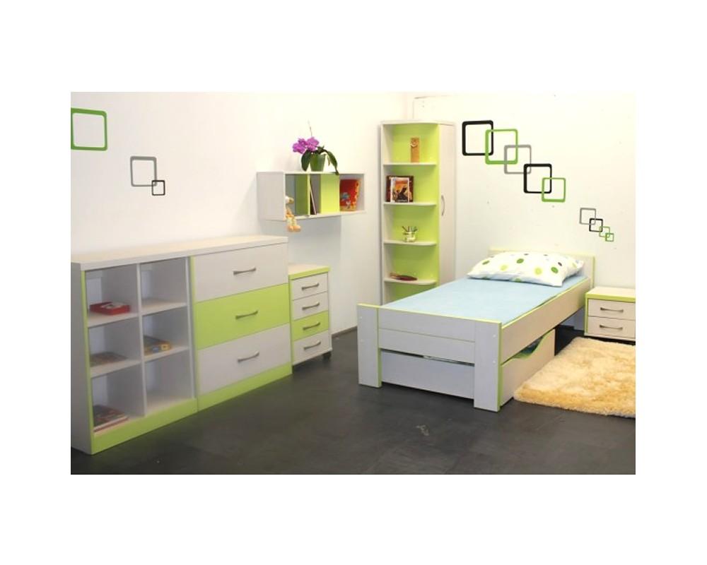 Dětský nábytek GREEN, lamino - zelená-bílá