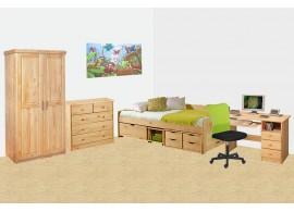 Dětský nábytek z masivu - sestava INTENA-01, borovice