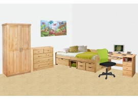 Dětský pokoj z masivu INTENA-01, masiv borovice