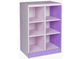 Knihovna - policový regál CR102, fialovo-bílá