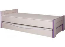 Dětská postel CR107, fialovo-bílá
