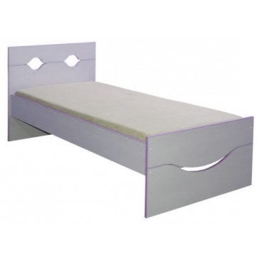 Dětská postel - jednolůžko CR108, fialovo-bílá