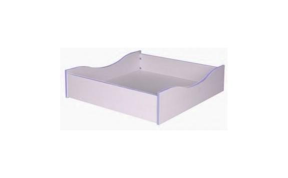 Úložný prostor pod postel CR109, fialovo-bílá