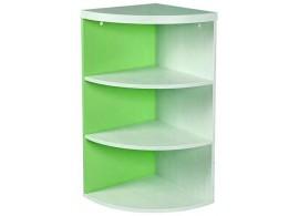 Rohový regál CR117, zelená-bílá