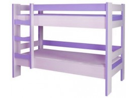 Dětská poschoďová postel CR123, fialovo-bílá