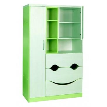 Dětská skříň velká CR124, zelená-bílá