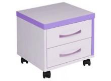 Kontejner k psacímu stolu CR052, fialovo-bílá