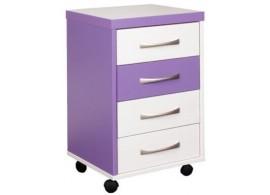 Kontejner k psacímu stolu CR054, fialovo-bílá