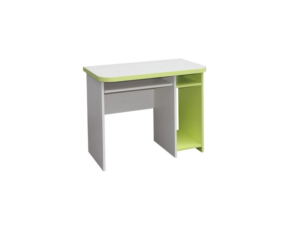 Psací PC stůl CR003, zelená-bílá