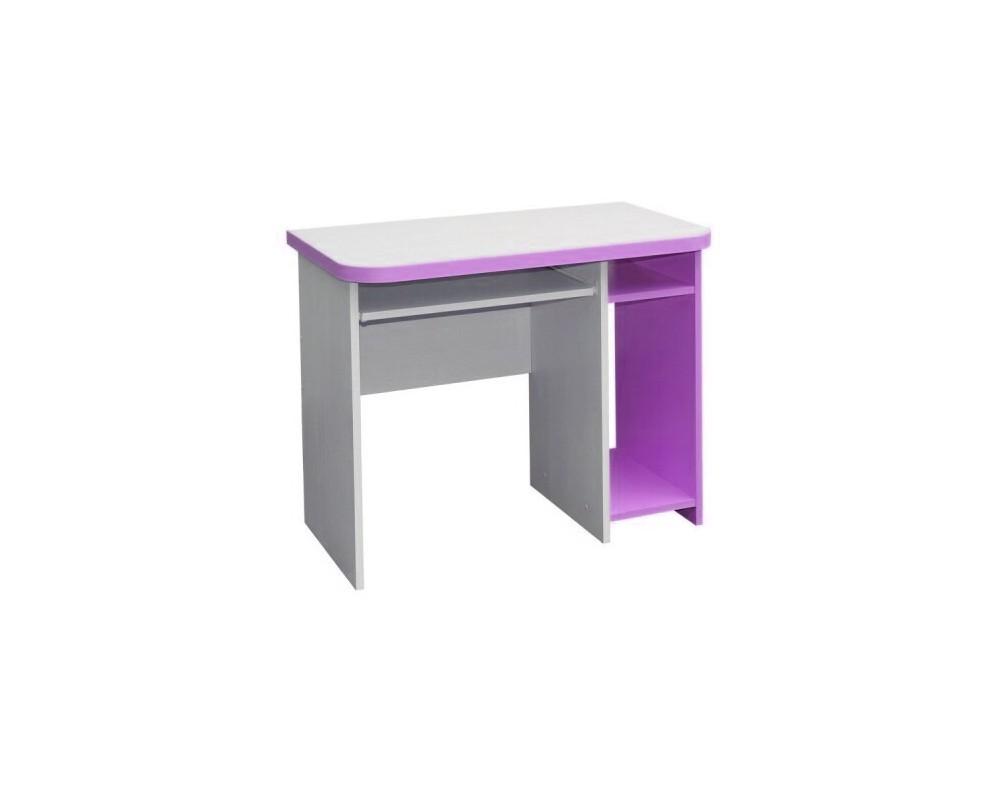 Psací PC stůl CR003, fialovo-bílá
