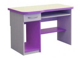 Psací PC stůl se zásuvkou CR006, fialovo-bílá
