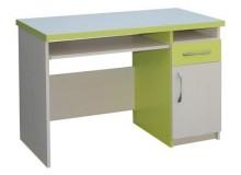 Psací PC stůl se zásuvkou CR009, zelená-bílá