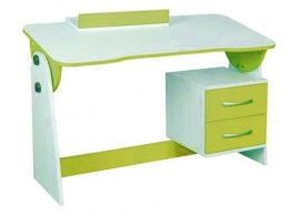 Psací PC stůl naklápěcí CR130, zelená-bílá