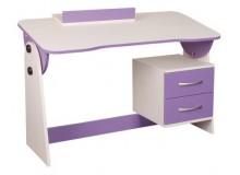Psací PC stůl naklápěcí CR130, fialovo-bílá