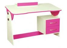 Psací PC stůl naklápěcí CR130, růžovo-bílá