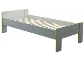 Dětská postel CR107, zelená-bílá