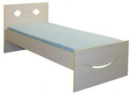 Dětská postel - jednolůžko CR108, zelená-bílá