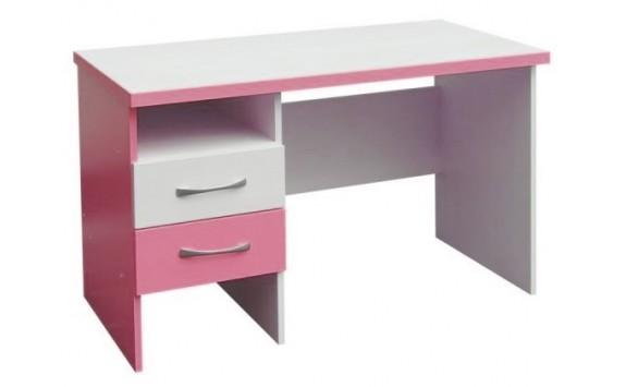 Psací PC stůl CR010, růžovo-bílá