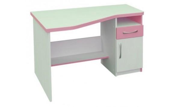 Psací PC stůl CR012, růžovo-bílá