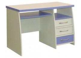 PC stůl se šuplíky CR060, fialovo-bílá