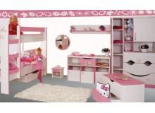 Dětský pokoj PINK, lamino -růžovo-bílý