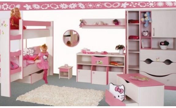 Dětský nábytek PINK, lamino -růžovo-bílá