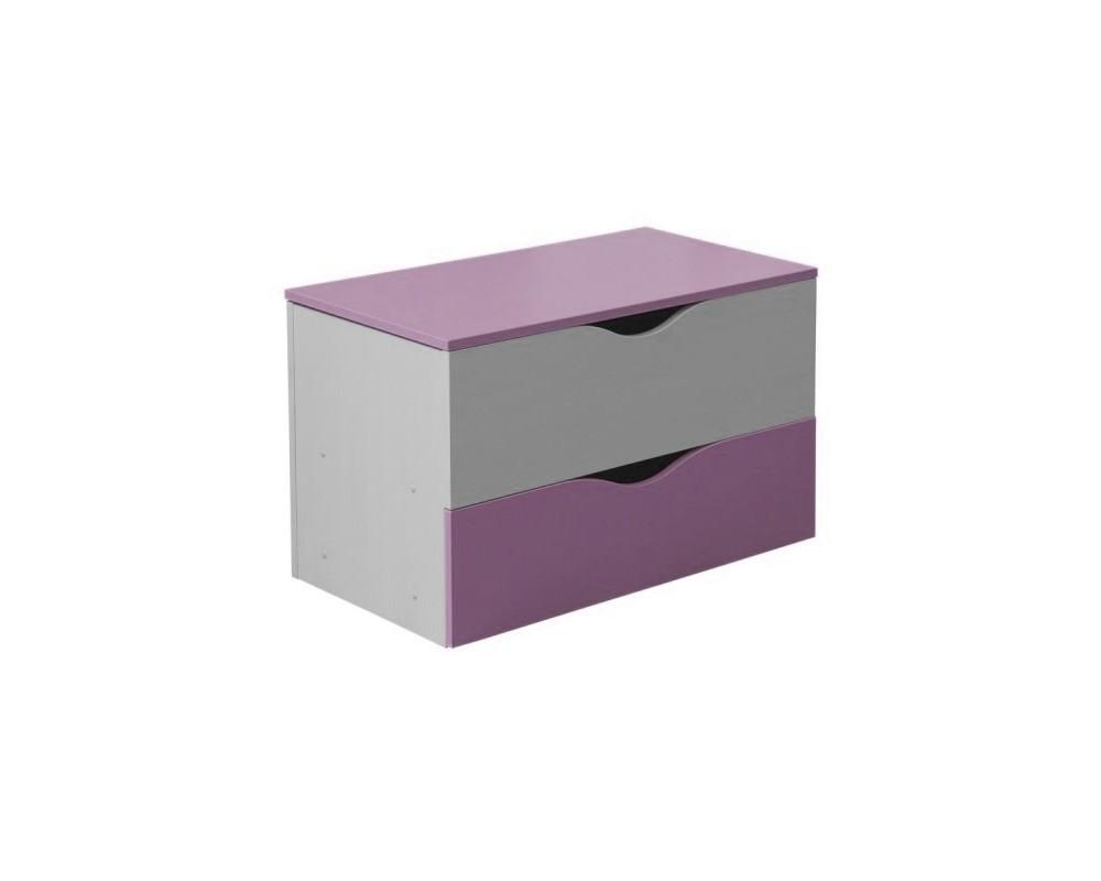 Krabice na hračky CR101, fialovo-bílá
