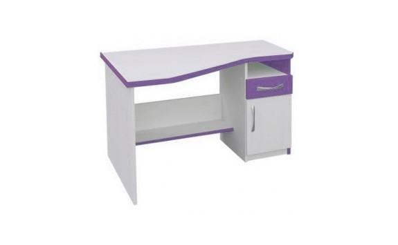 Psací PC stůl CR012, fialovo-bílá