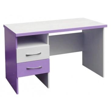 Psací PC stůl CR010, fialovo-bílá