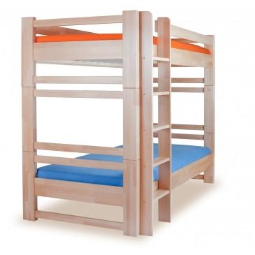 Dětská patrová postel postel - palanda rozkládací LUCAS, masiv buk