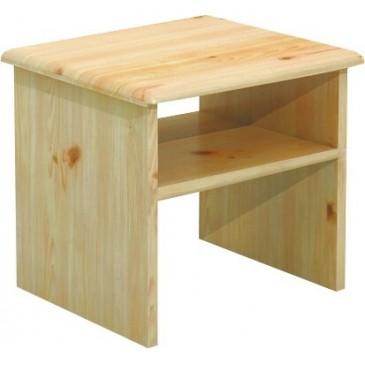 Noční stolek - BR011, masiv borovice