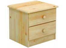 Komoda úzka - noční stolek BR001, masiv borovice