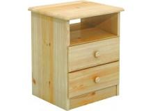 Komoda úzka - noční stolek BR033, masiv borovice