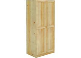 Šatní skříň BR021, masiv borovice
