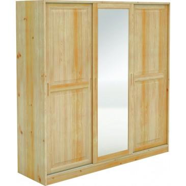 Šatní skříň s posuvnými dveřmi BR024, masiv borovice