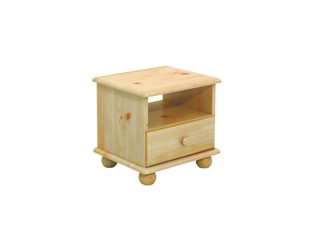 Noční stolek BR201, masiv borovice
